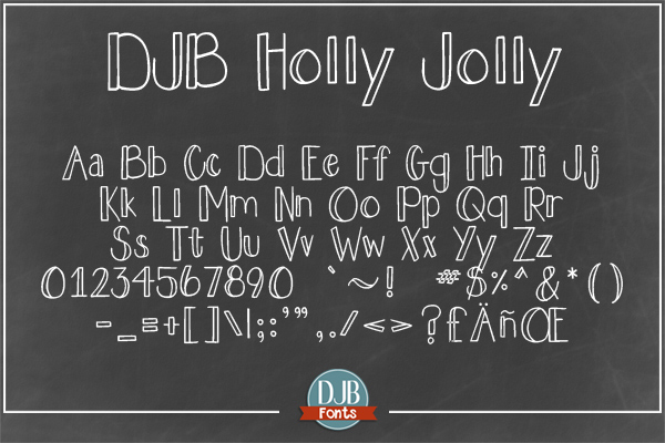 DJB Holly Sessions Font Bundle example image 5