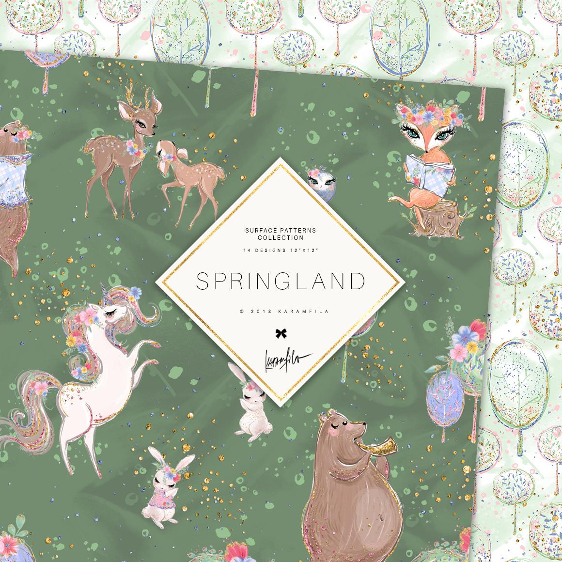Spring Woodland Patterns example image 3