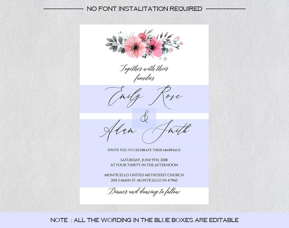 Wedding Invitation Template example image 3