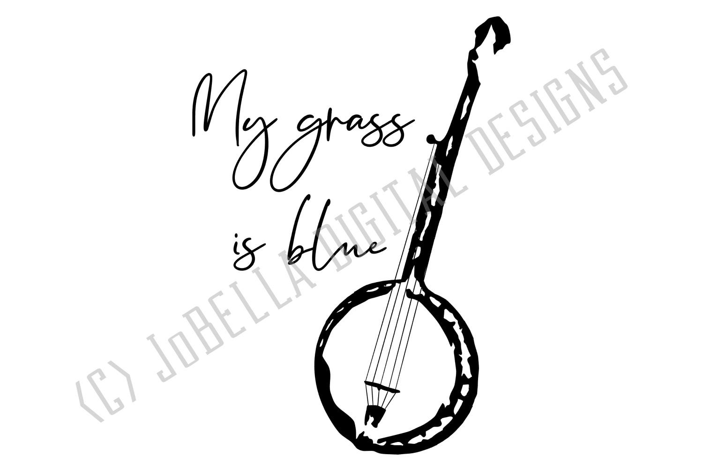 Bluegrass Grunge Banjo SVG and Printable Hand Drawn Design example image 3