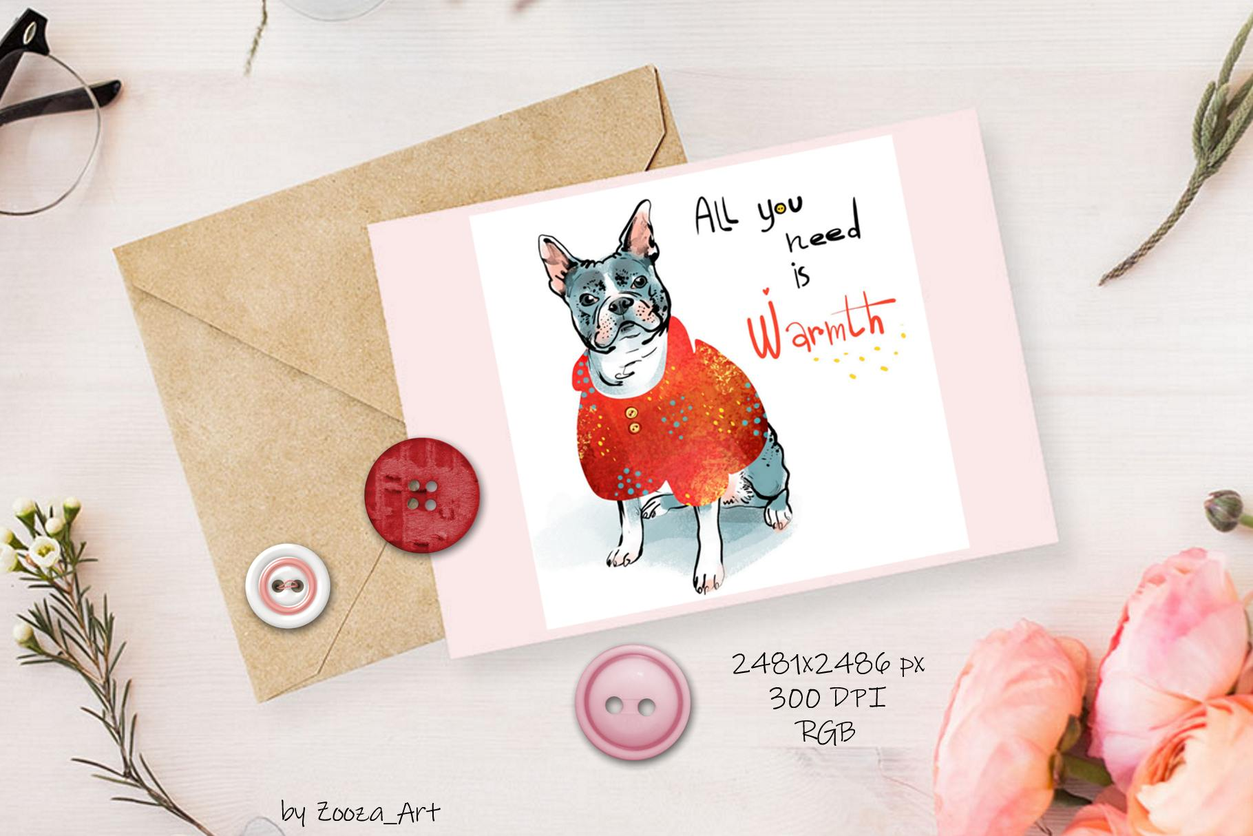 BUNDLE 4 in 1 - dogs and cats cards example image 14