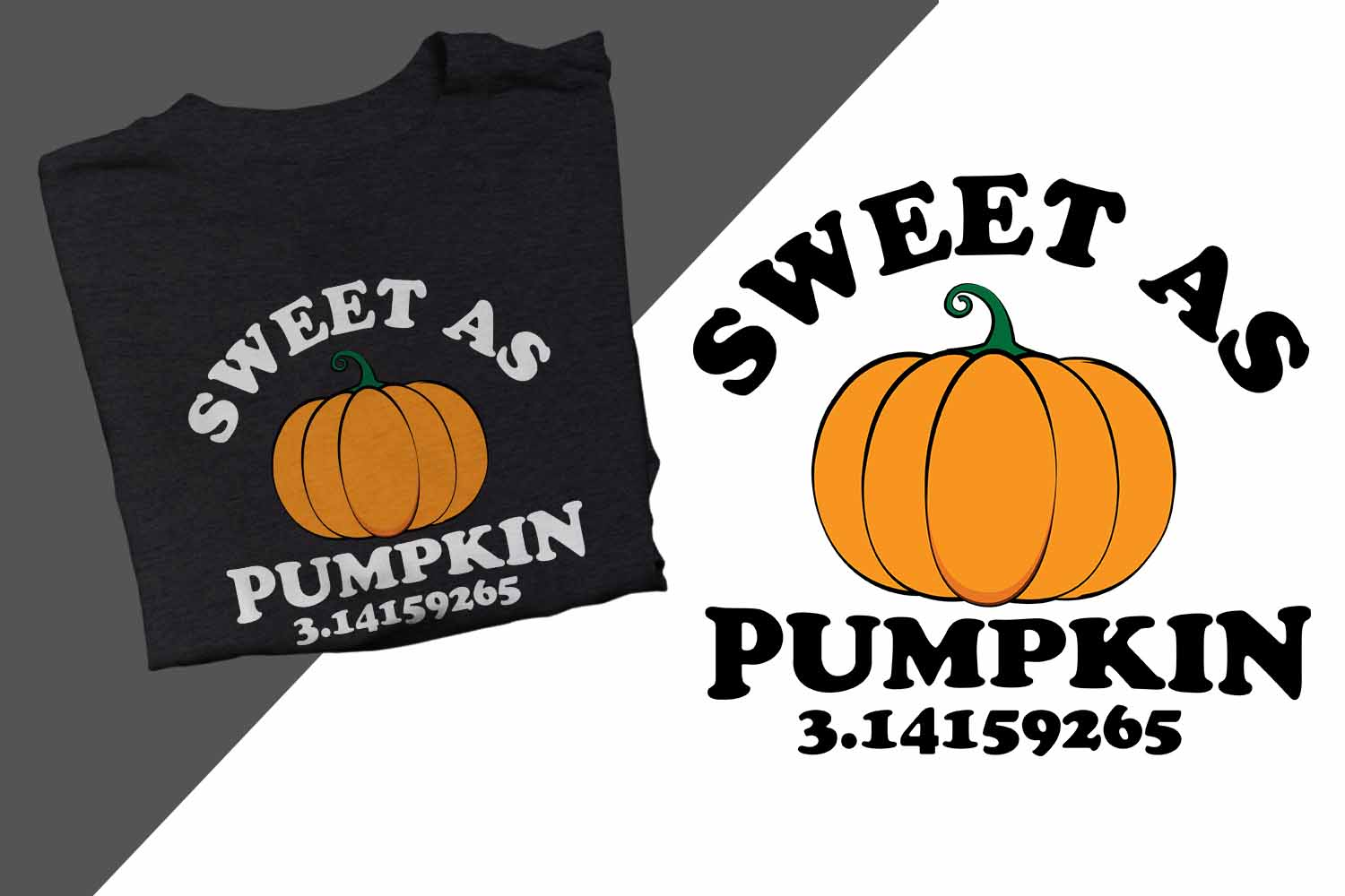 Sweet as Pumpkin 3.14 Halloween Printable example image 1