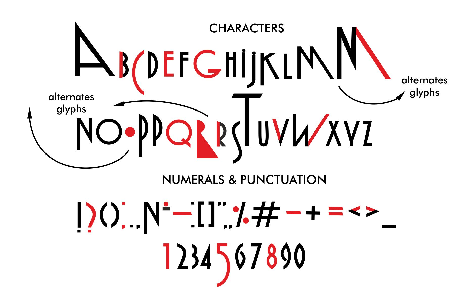 Malarstvo avangard color font example image 2
