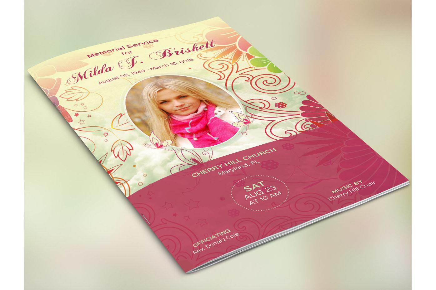 memory funeral program publisher templa design bundles