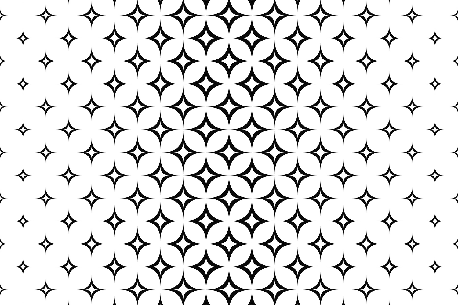 15 curved star patterns (EPS, AI, SVG, JPG 5000x5000) example image 3
