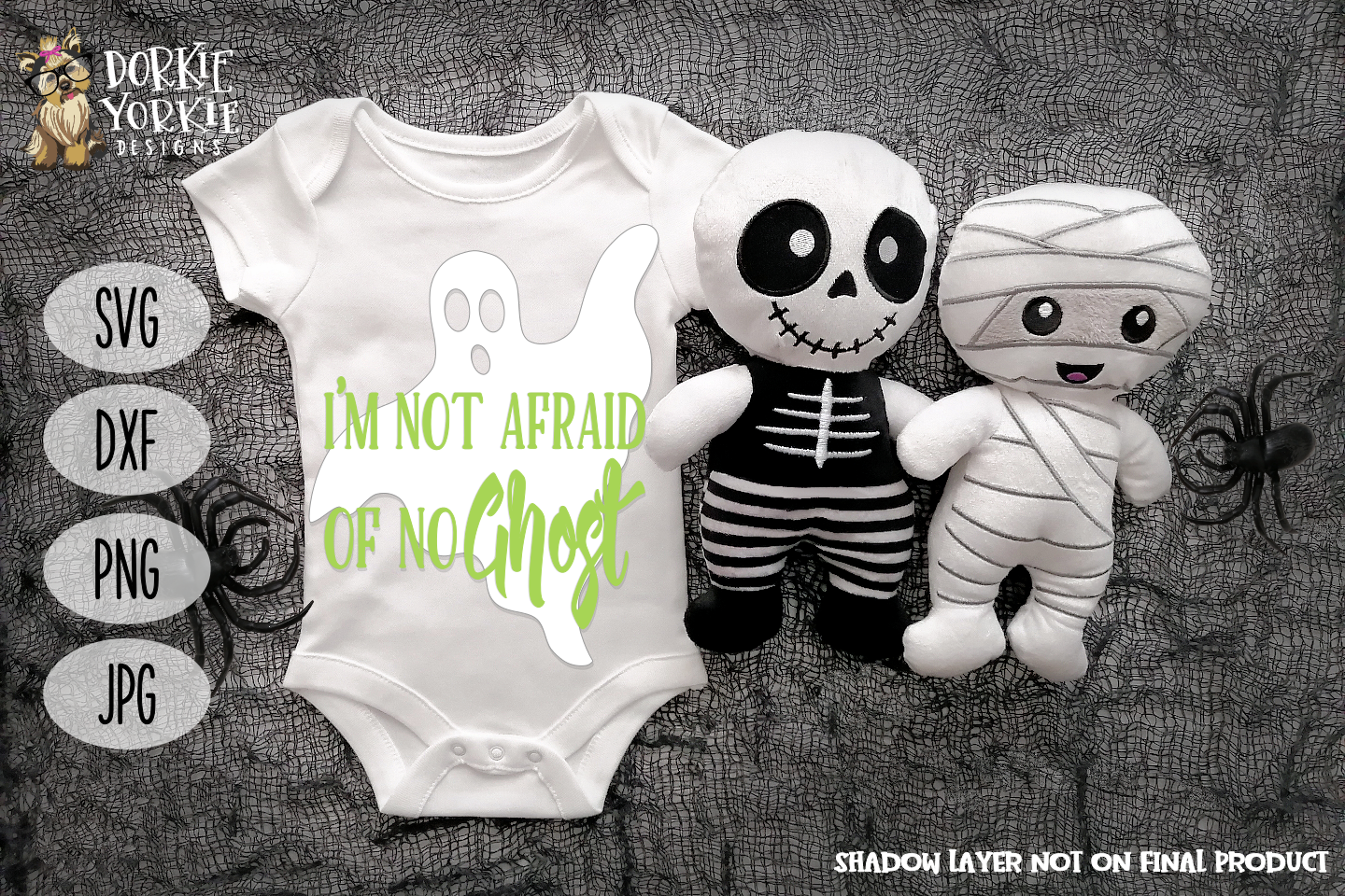 I'm not afraid of no Ghost- Halloween - SVG Cut File example image 1