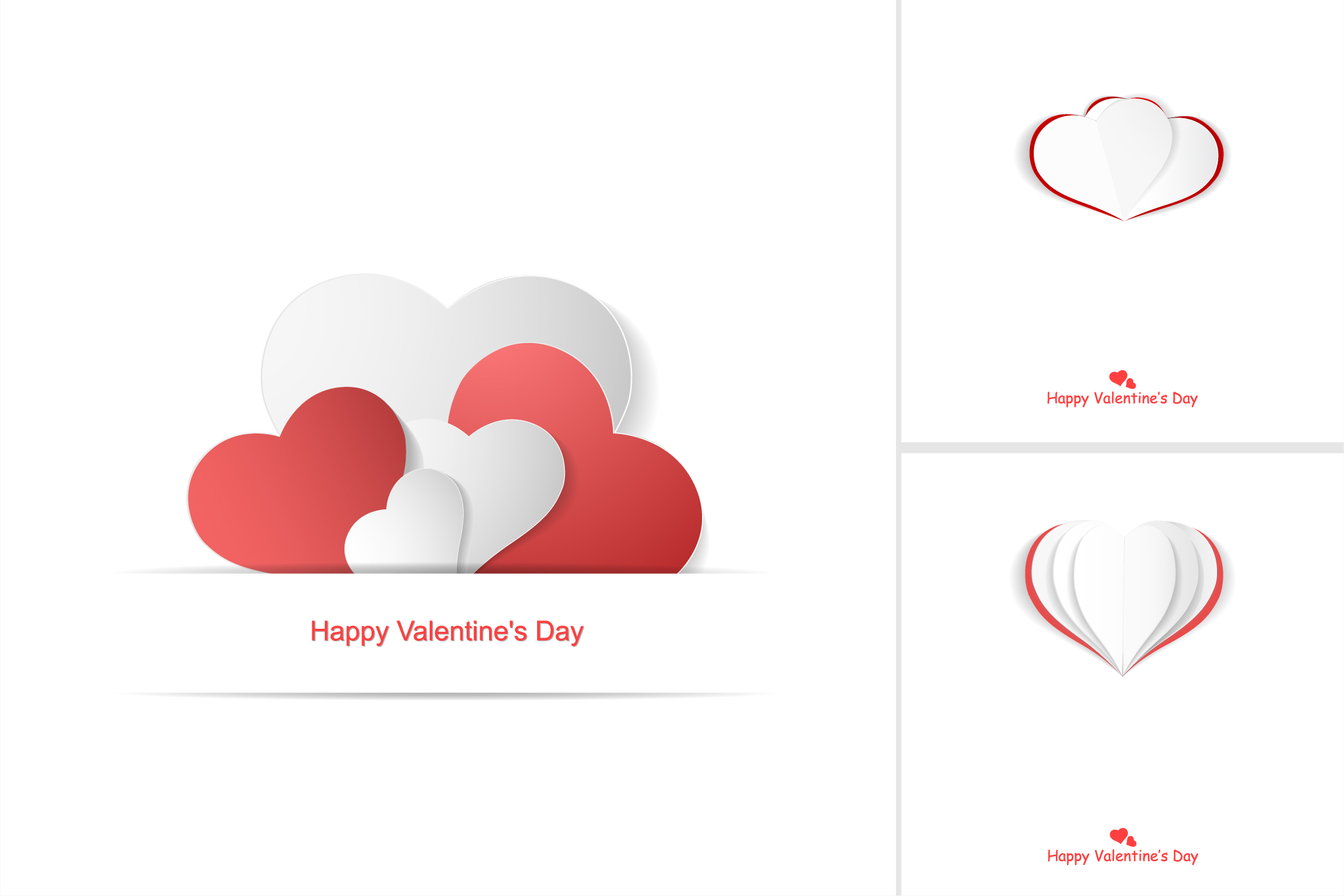Valentine day postcards with hearts example image 7