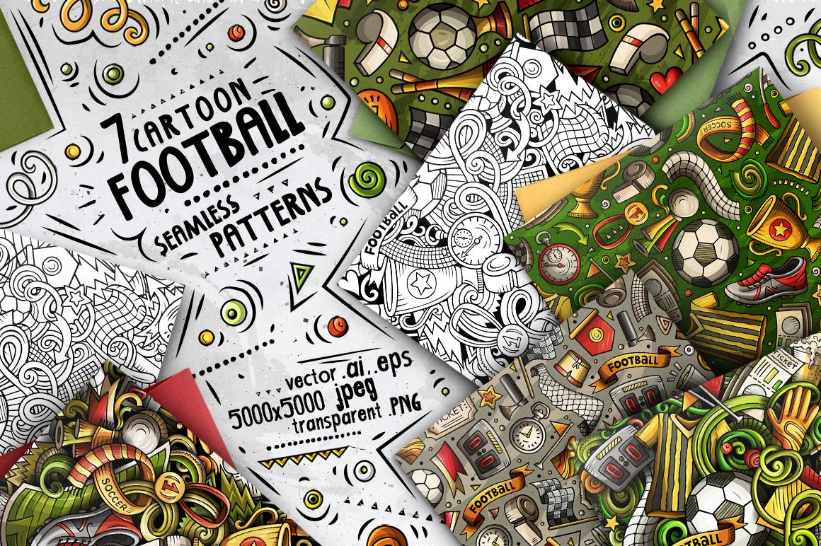 Soccer Cartoon Doodle Big Pack example image 8