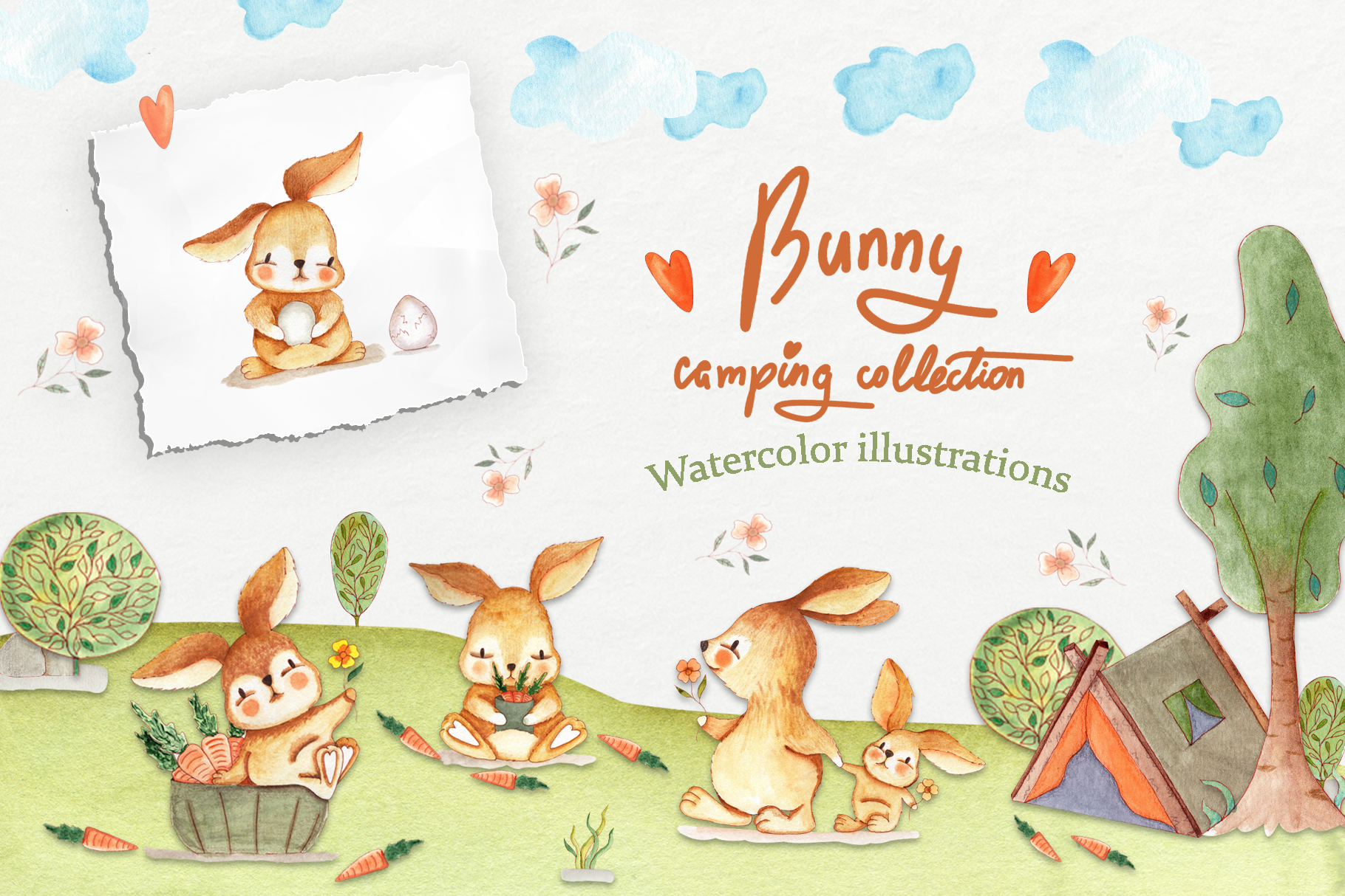 Bunny Camping Collection example image 1