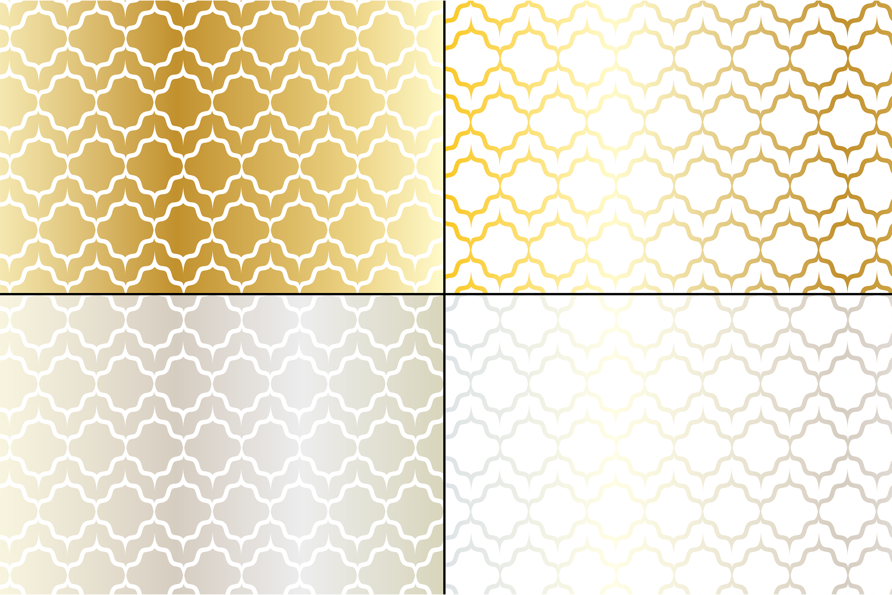 Middle Eastern Patterns Silver Gold example image 3