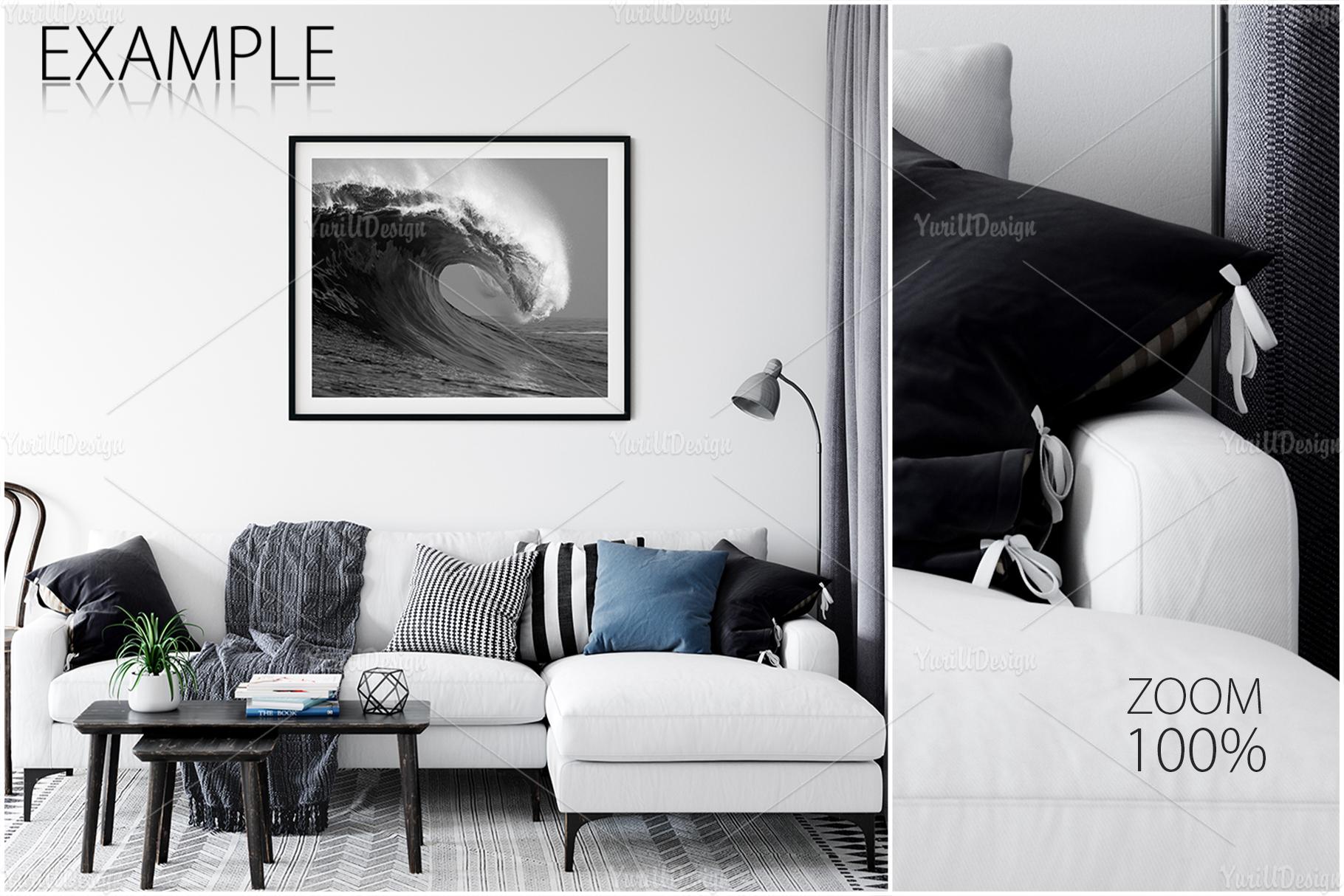 Scandinavian Interior Frames & Walls Mockup Bundle - 3 example image 21