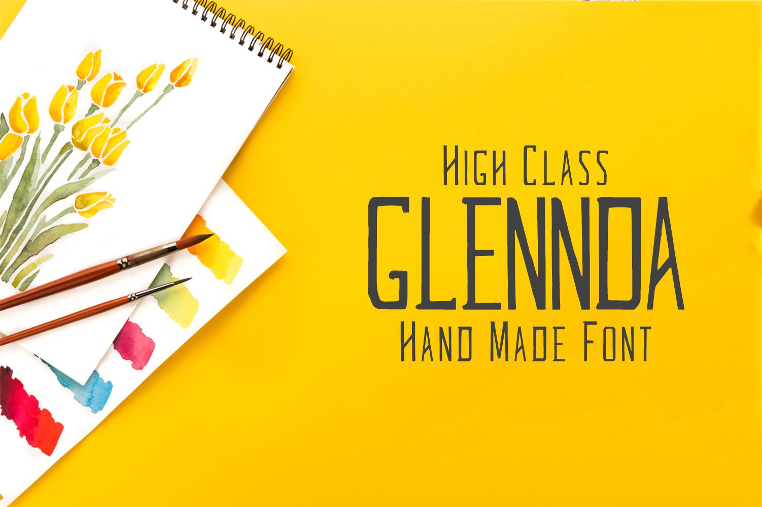 Glennda Handmade Serif Typeface example image 1