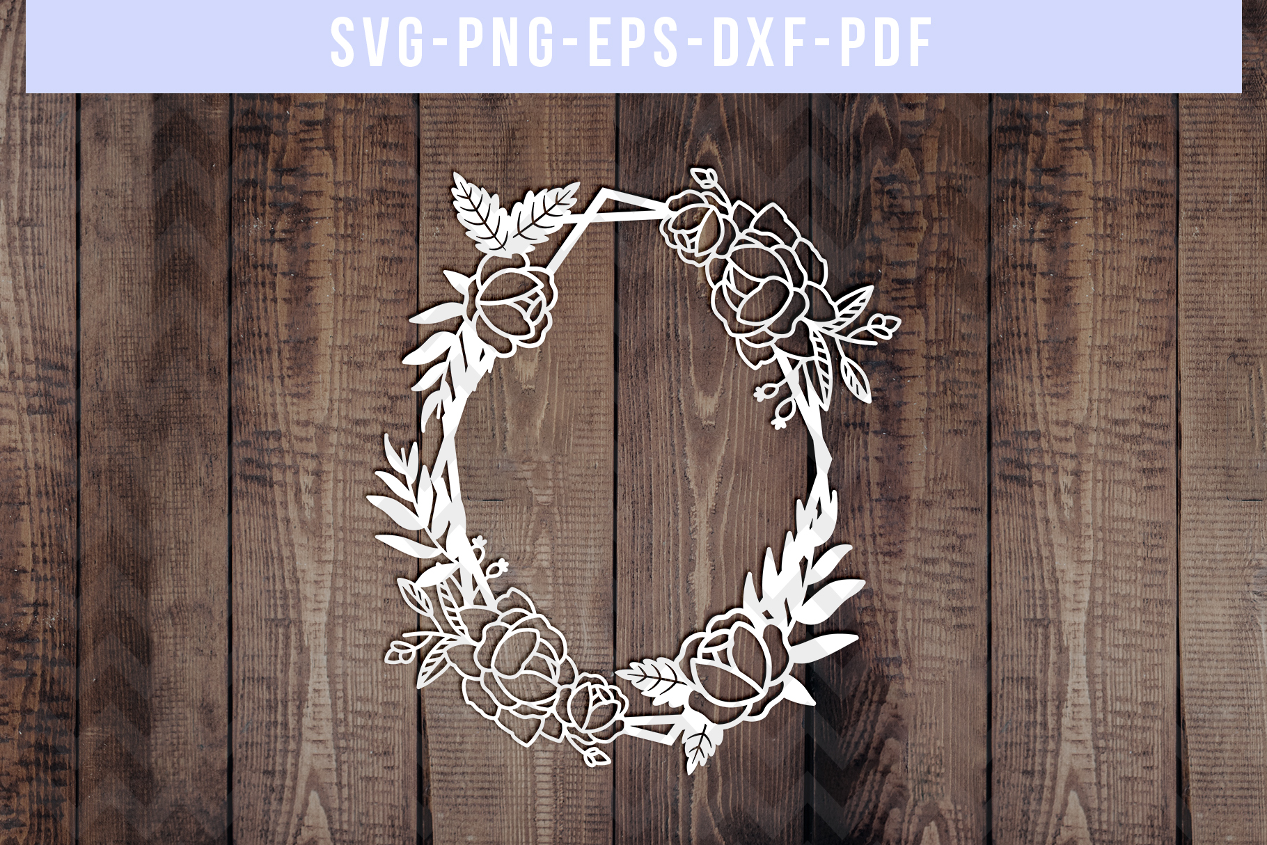 Bundle Of 9 Geometric Frame Papercut Templates, SVG, PDF DXF example image 8