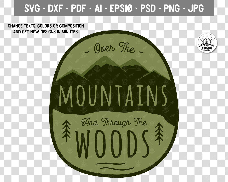 Retro Mountains Adventure Badge / Vintage Travel Logo Patch example image 4
