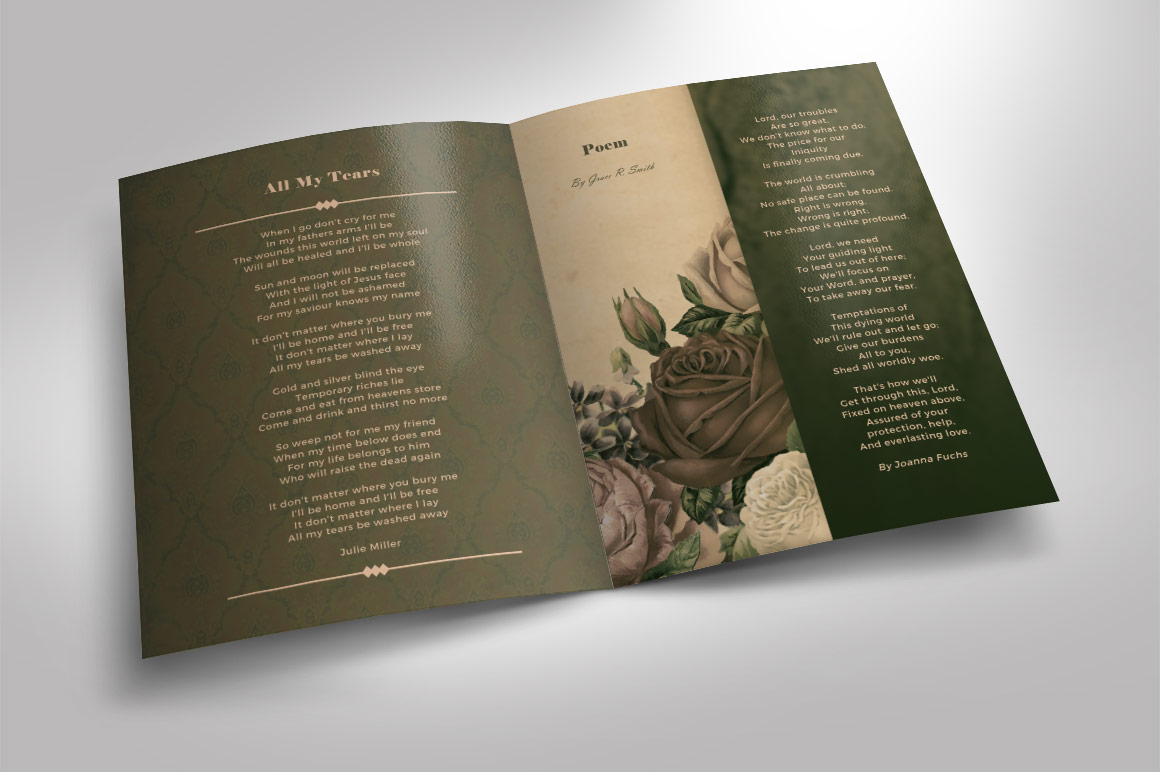 how to create a funeral program in photoshop