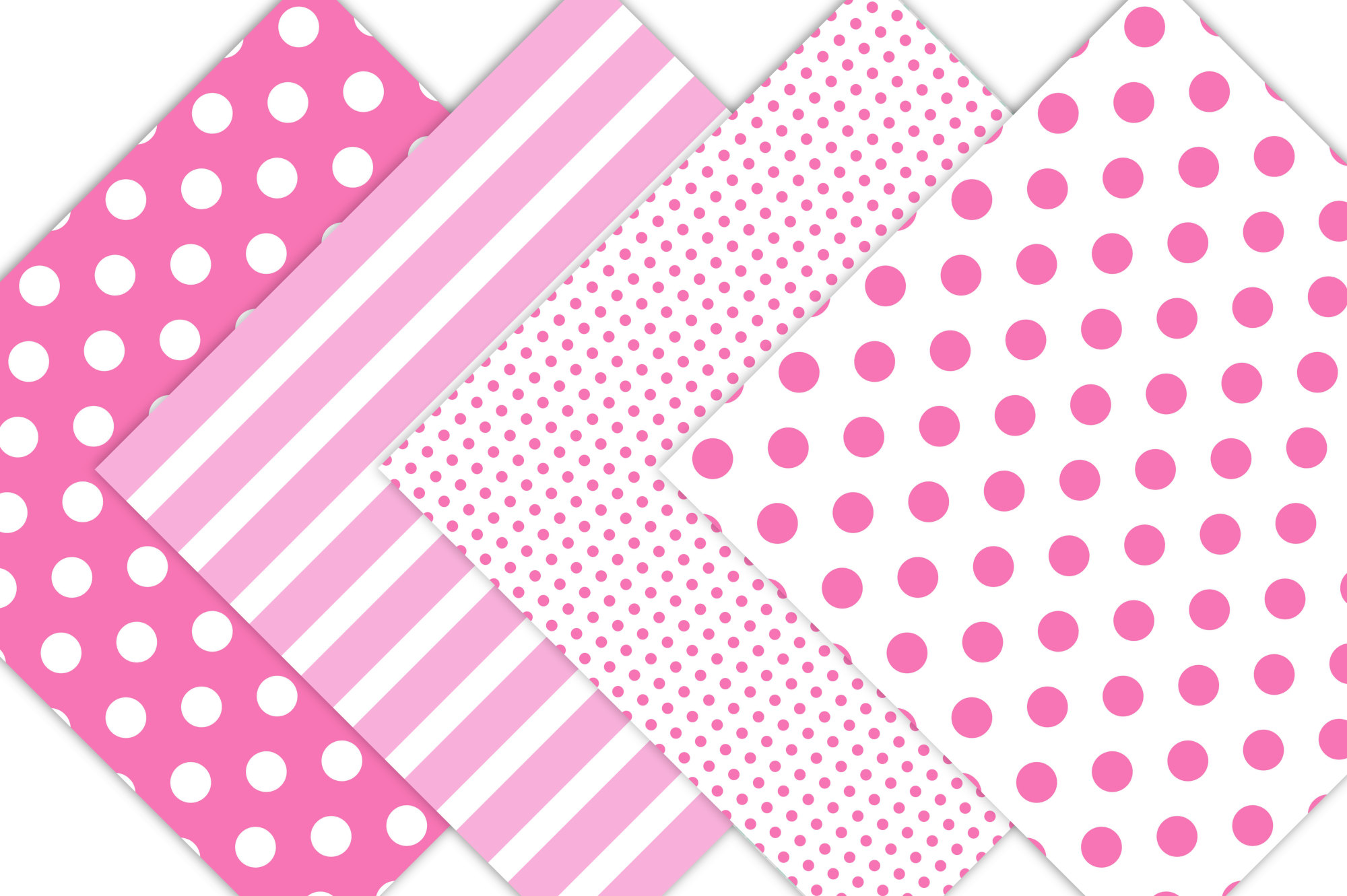 Pink Polka Dots and Stripes example image 3