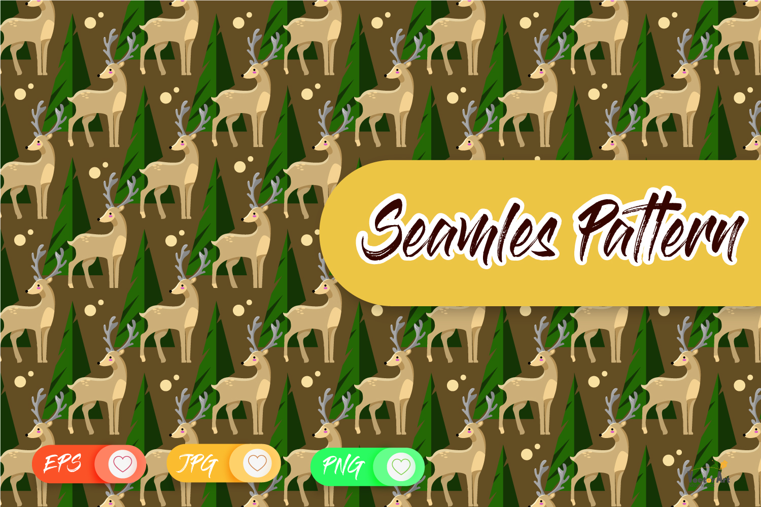 Crafter Set - DigiStamp - Seamless Pattern - Background example image 5
