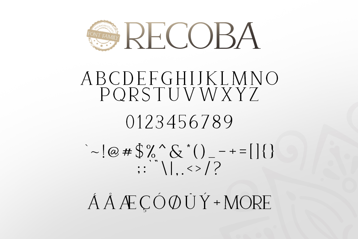 Recoba Font Family example image 6