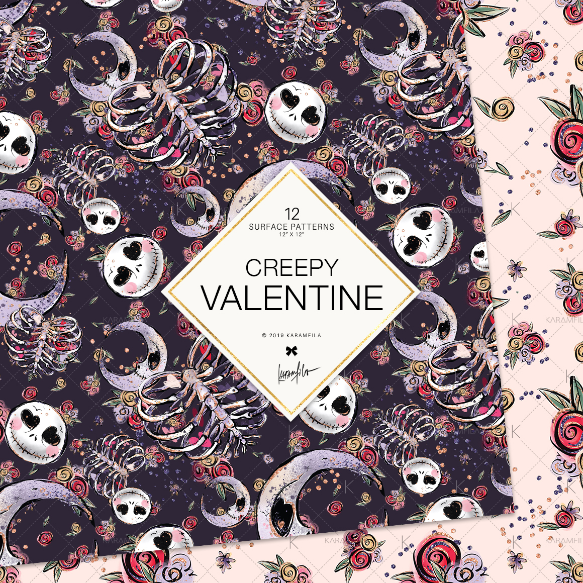 Creepy Valentine's Day Patterns example image 2