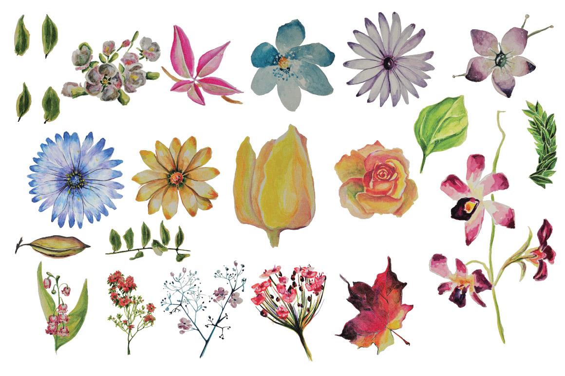 Boho Vibe-Vector Watercolors example image 4
