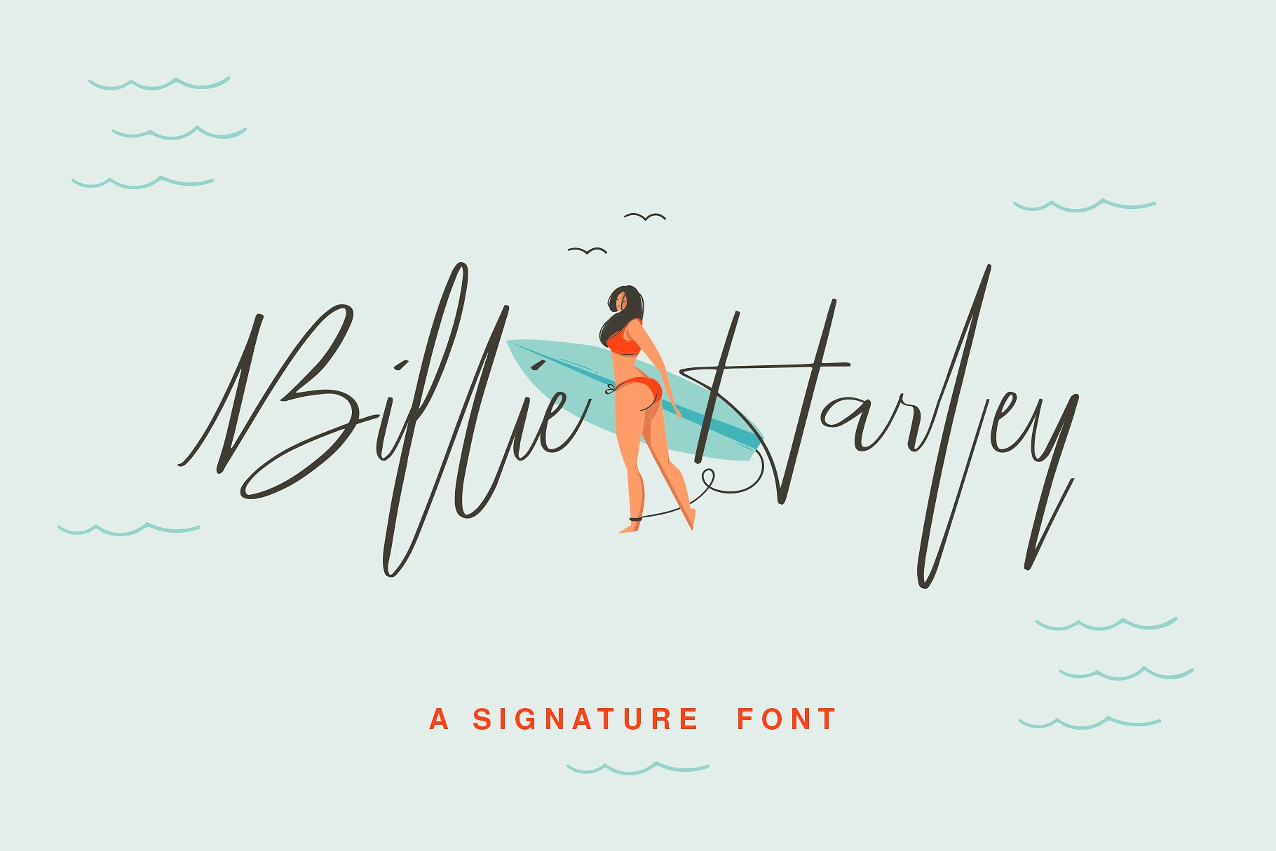 Billie Harley Signature Font example 1