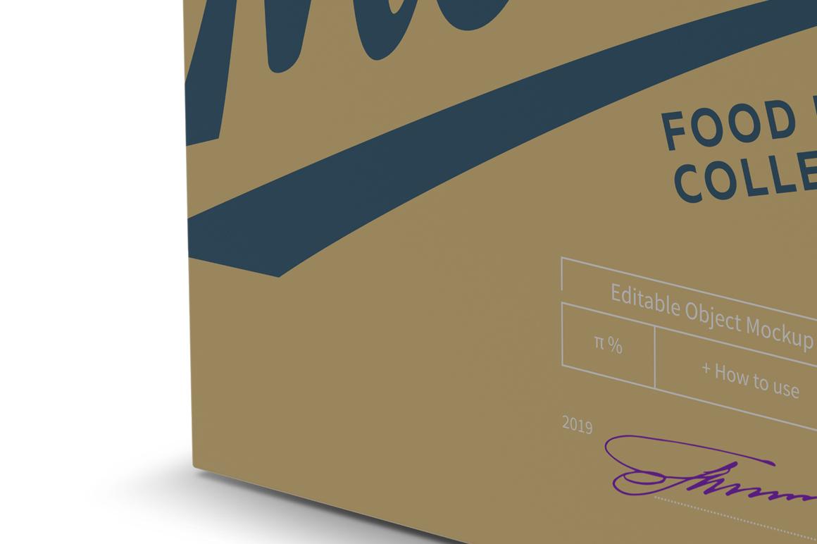 Paper Box with Hang Tab Mockup Half Side View example image 4