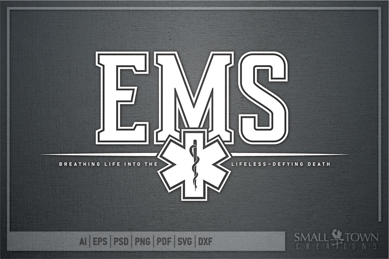 EMS, Emergency Medcial Services, Logo, PRINT, CUT & DESIGN example image 5