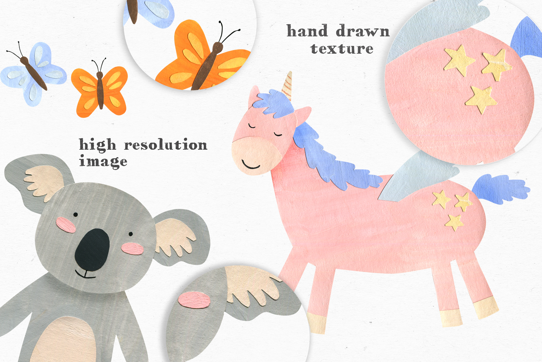Papercut Animals Clipart example image 3