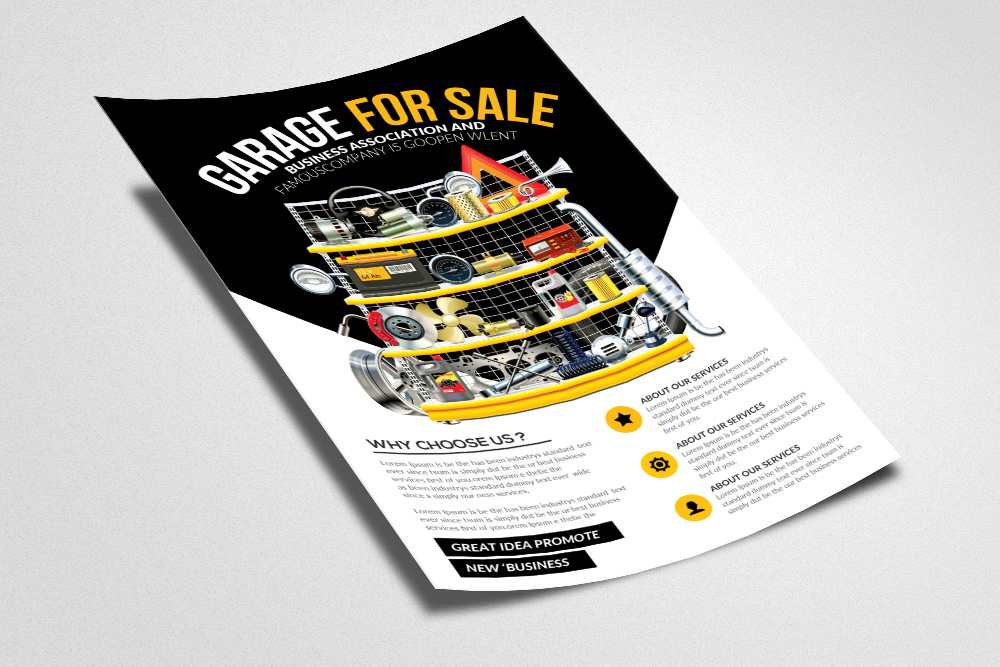 Garage Sale Psd Flyer Print Templates example image 2
