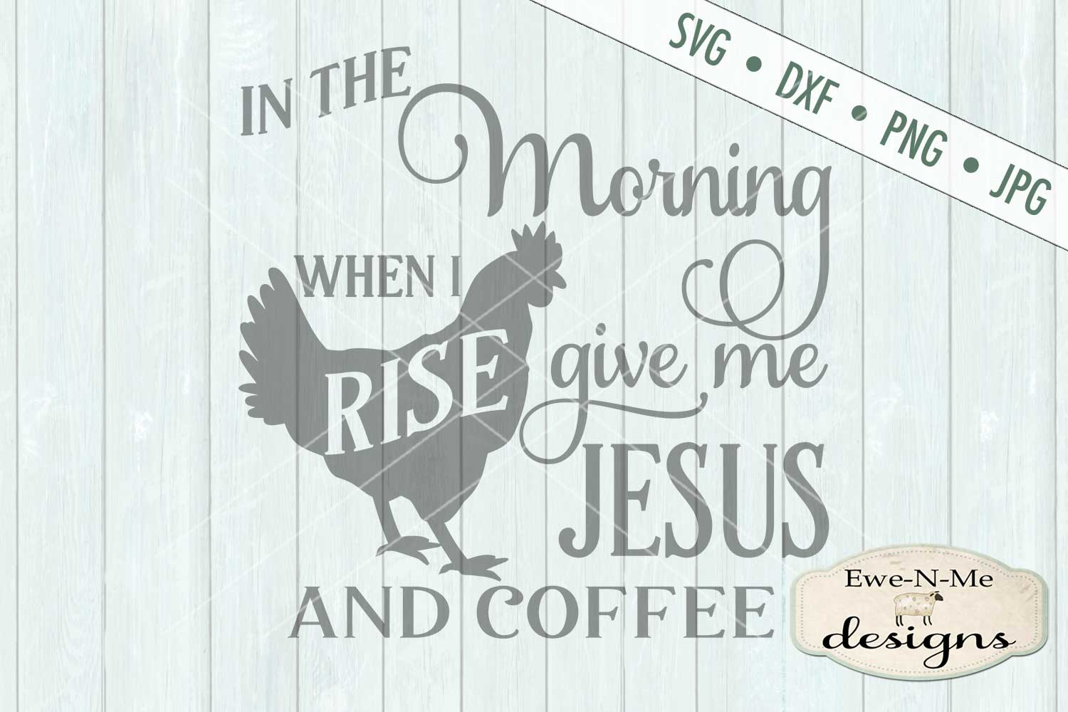 Jesus and Coffee SVG DXF Cut File example image 2
