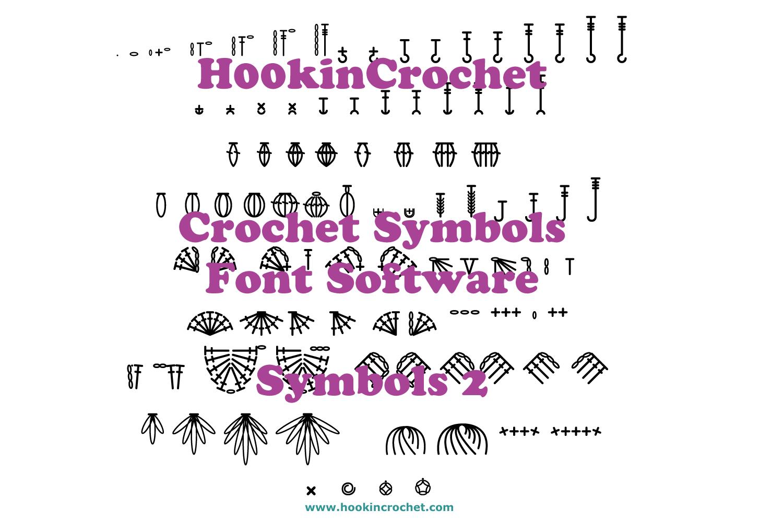 HookinCrochet Symbols 2 Font Software example image 1