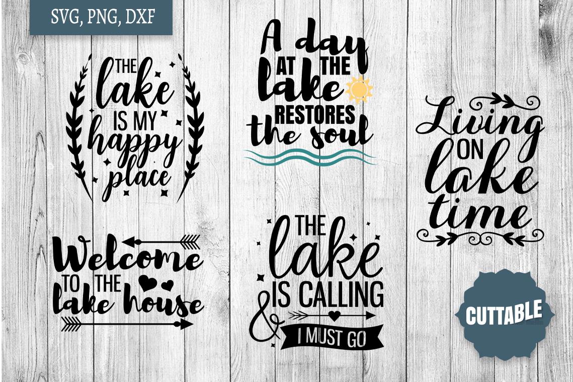 Lake SVG bundle, Lake home cut file bundle, Lake quote SVGs example image 3