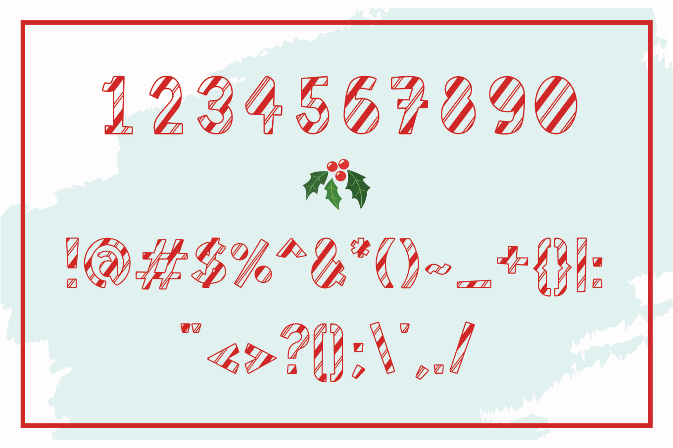 Jolly Party - A Christmas Font example image 3