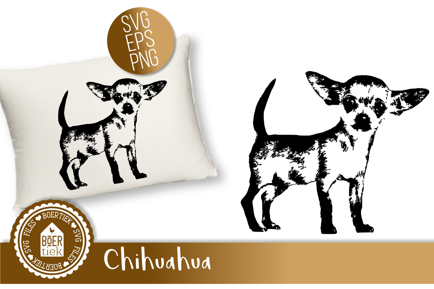 Chihuahua, SVG cutting file example image 1