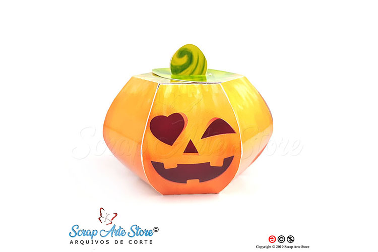 Box pumpkin hallowenn Cut Files example image 2