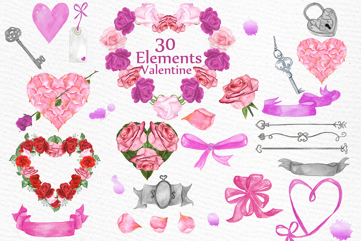 BUNDLE-Valentine's Day clipart example image 4