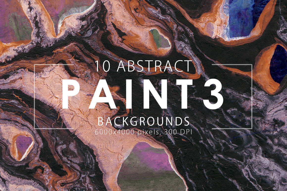 Abstract Paint Backgrounds Vol.3 example image 1