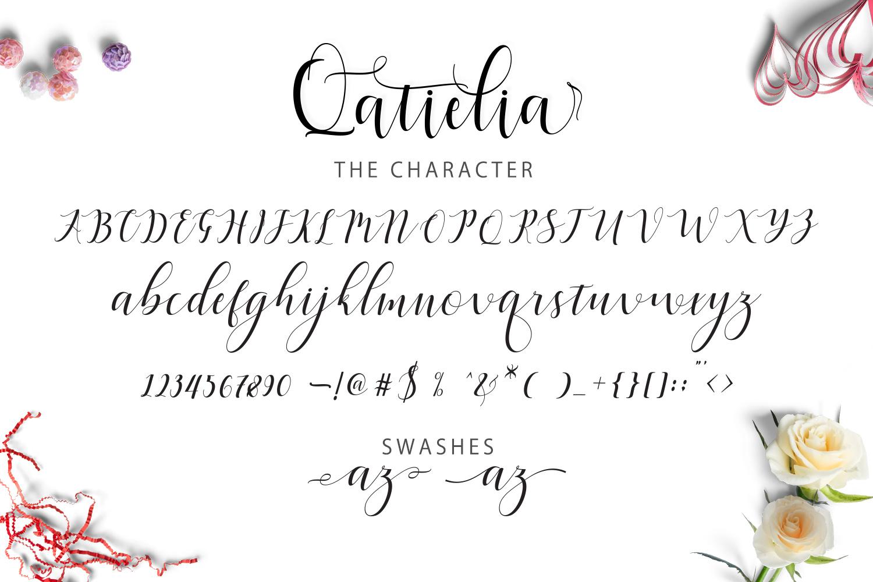 Qatielia Script | 3 Font Bonus example image 5