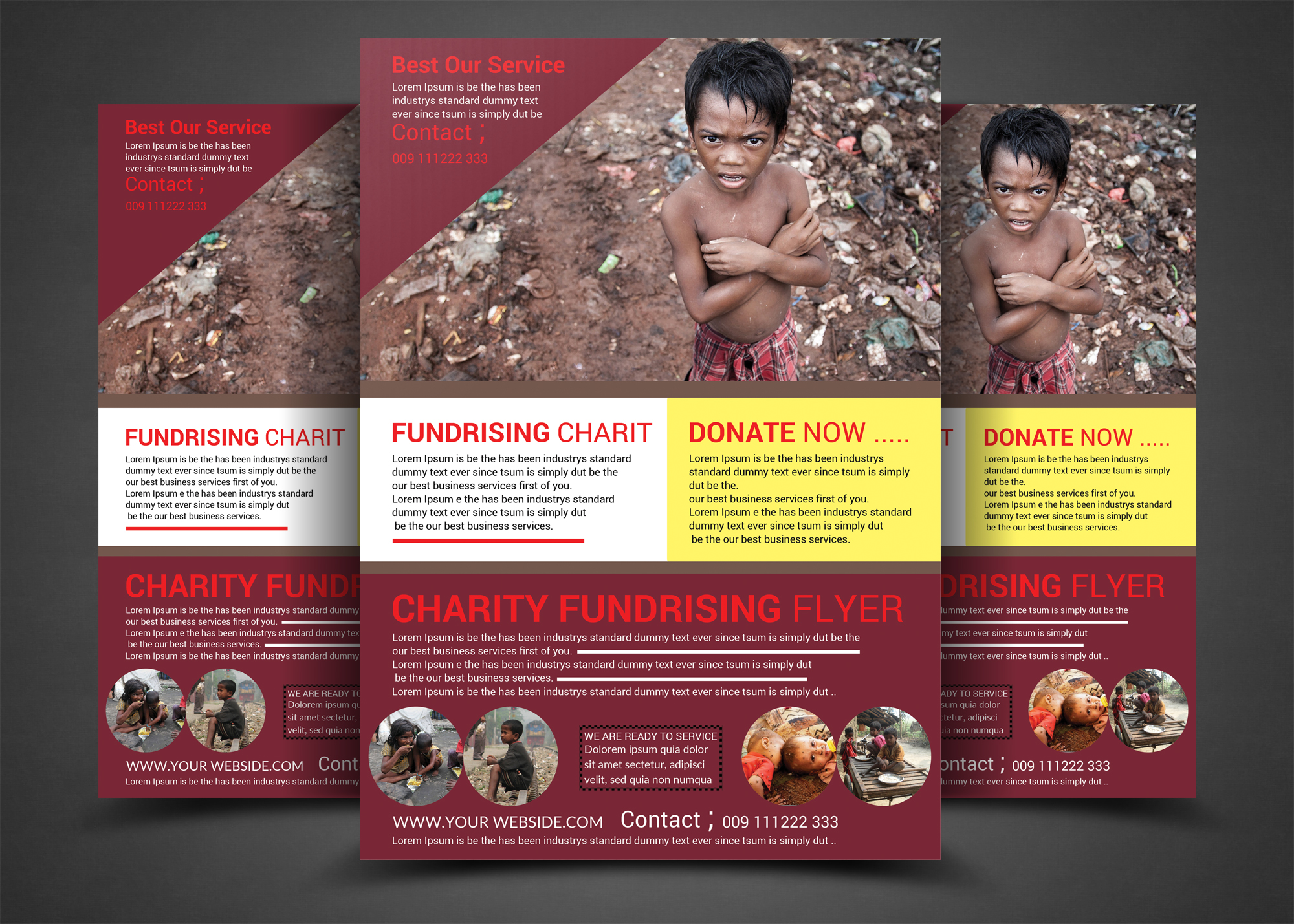 Charity Fundraisers Flyer Templates example image 1