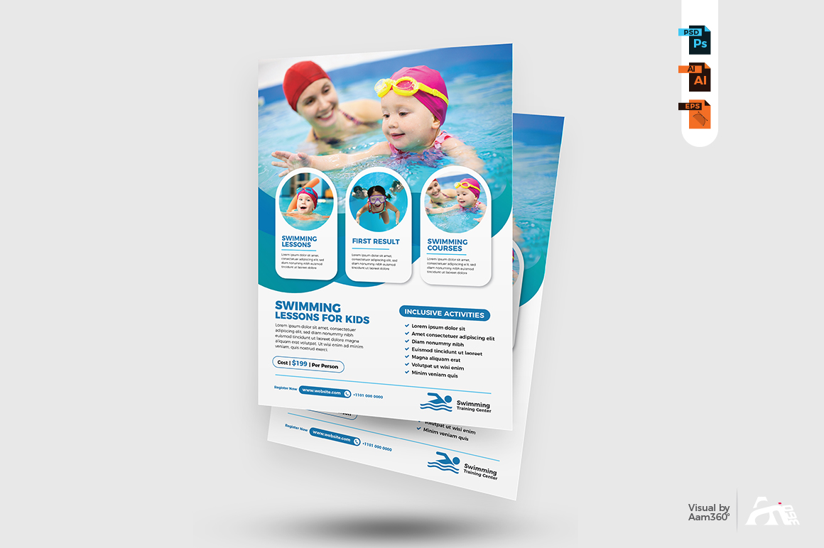 Swimming Lessons Flyer example image 2