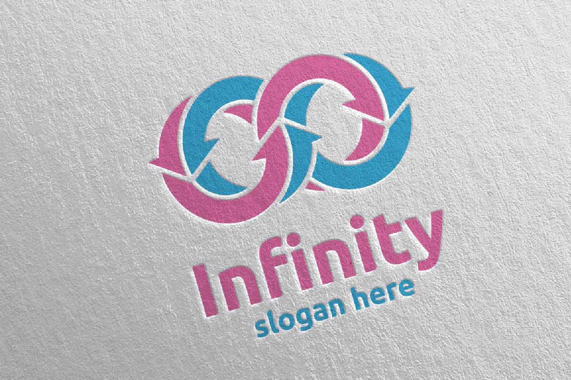 Infinity loop logo Design 15 example image 3