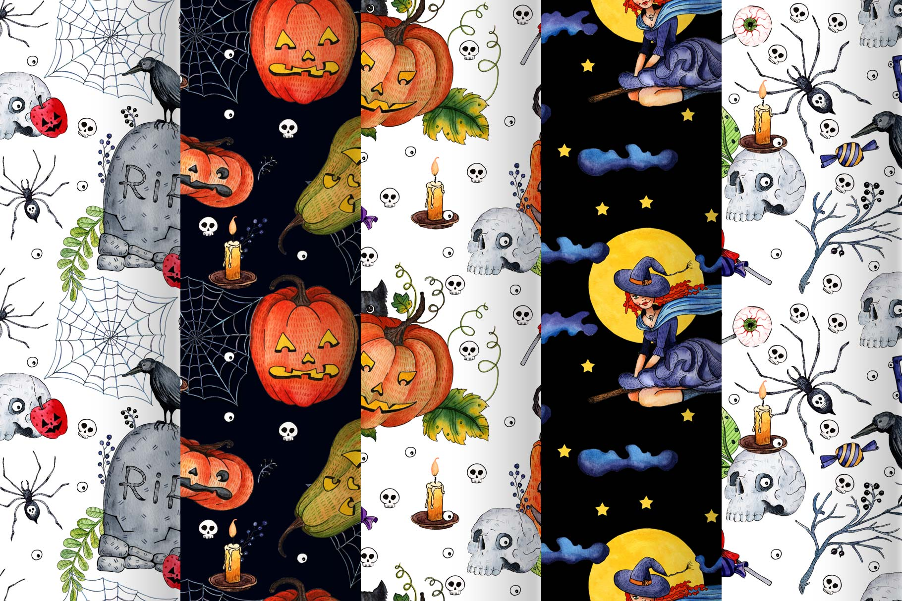 Watercolor set for Halloween example image 5