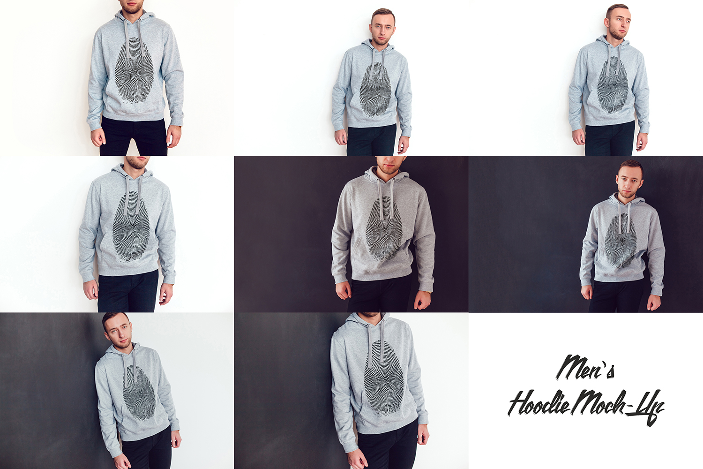 Men's Hoodie Mock-Up example image 9