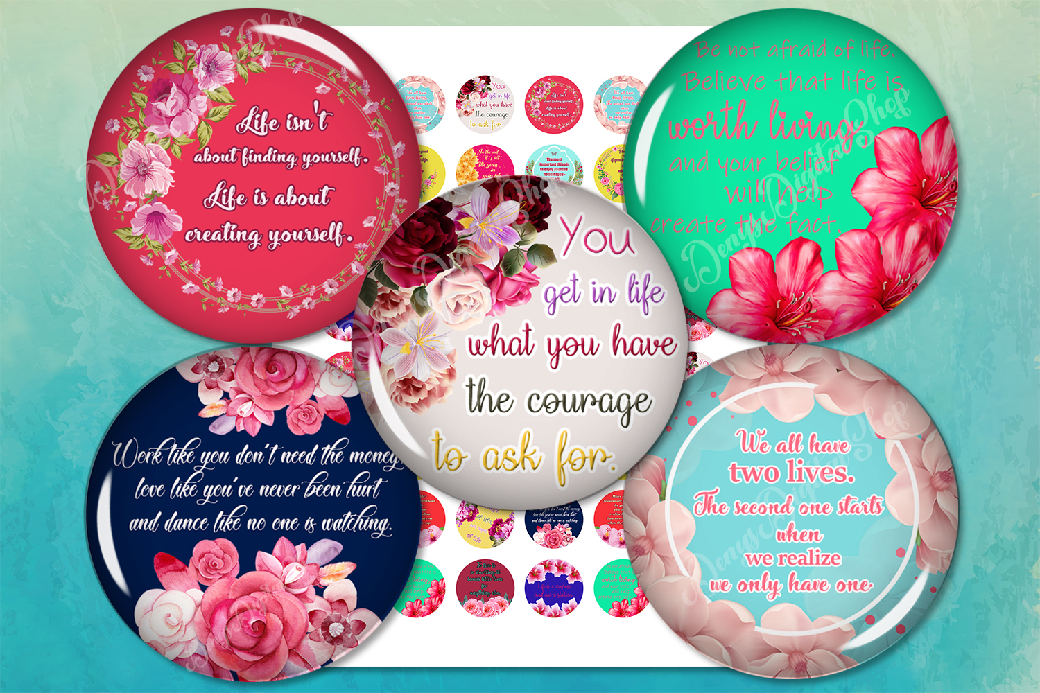 Quotes Digital Collage Sheet,Motivational Quotes,Life Quotes
