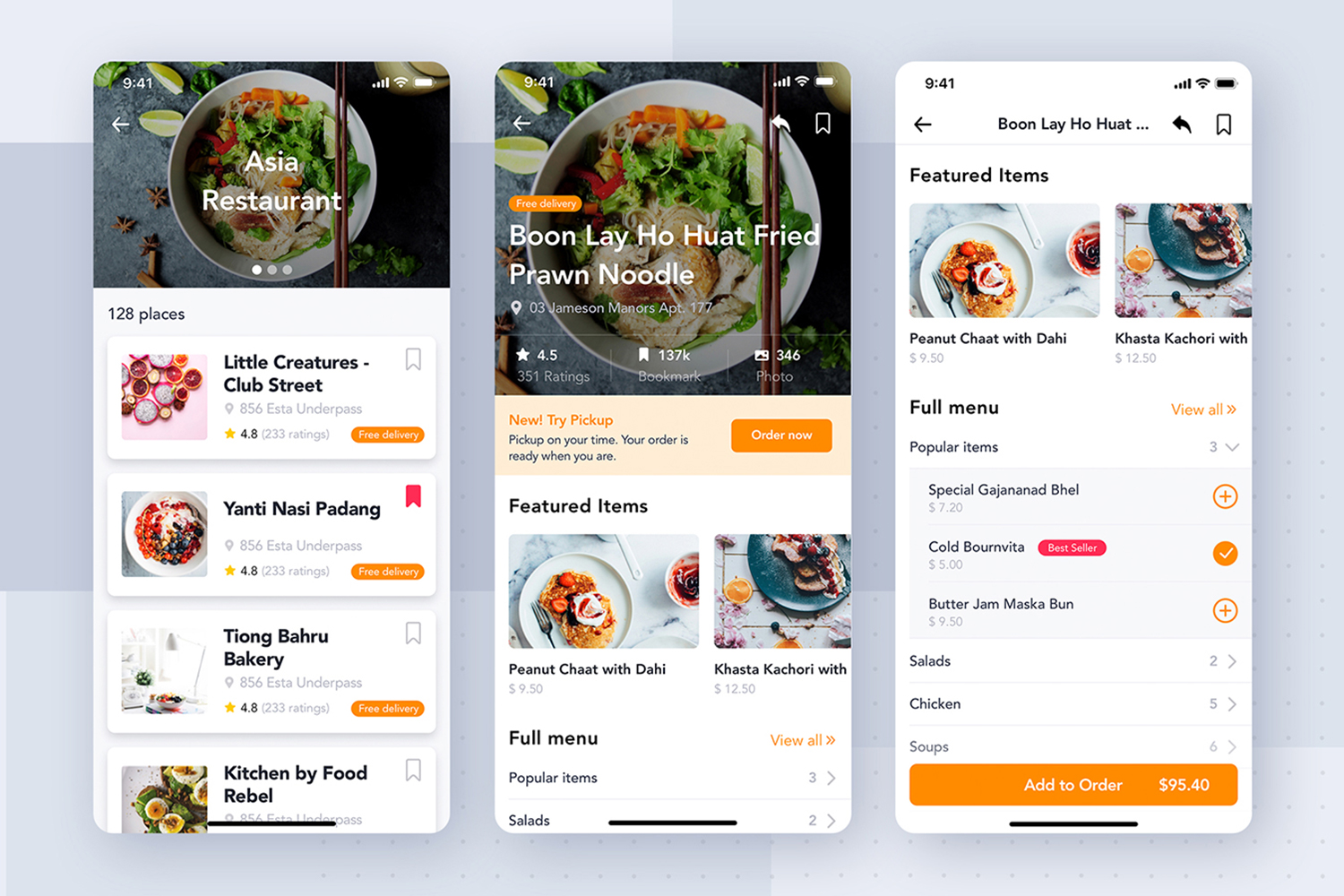 Fozzi - Food Delivery App UI Kit example image 3