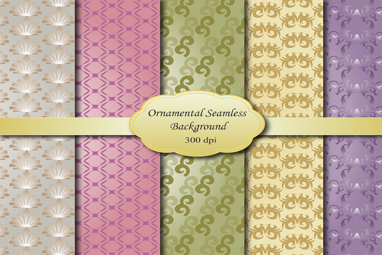 Ornamental Digital Papers example image 1
