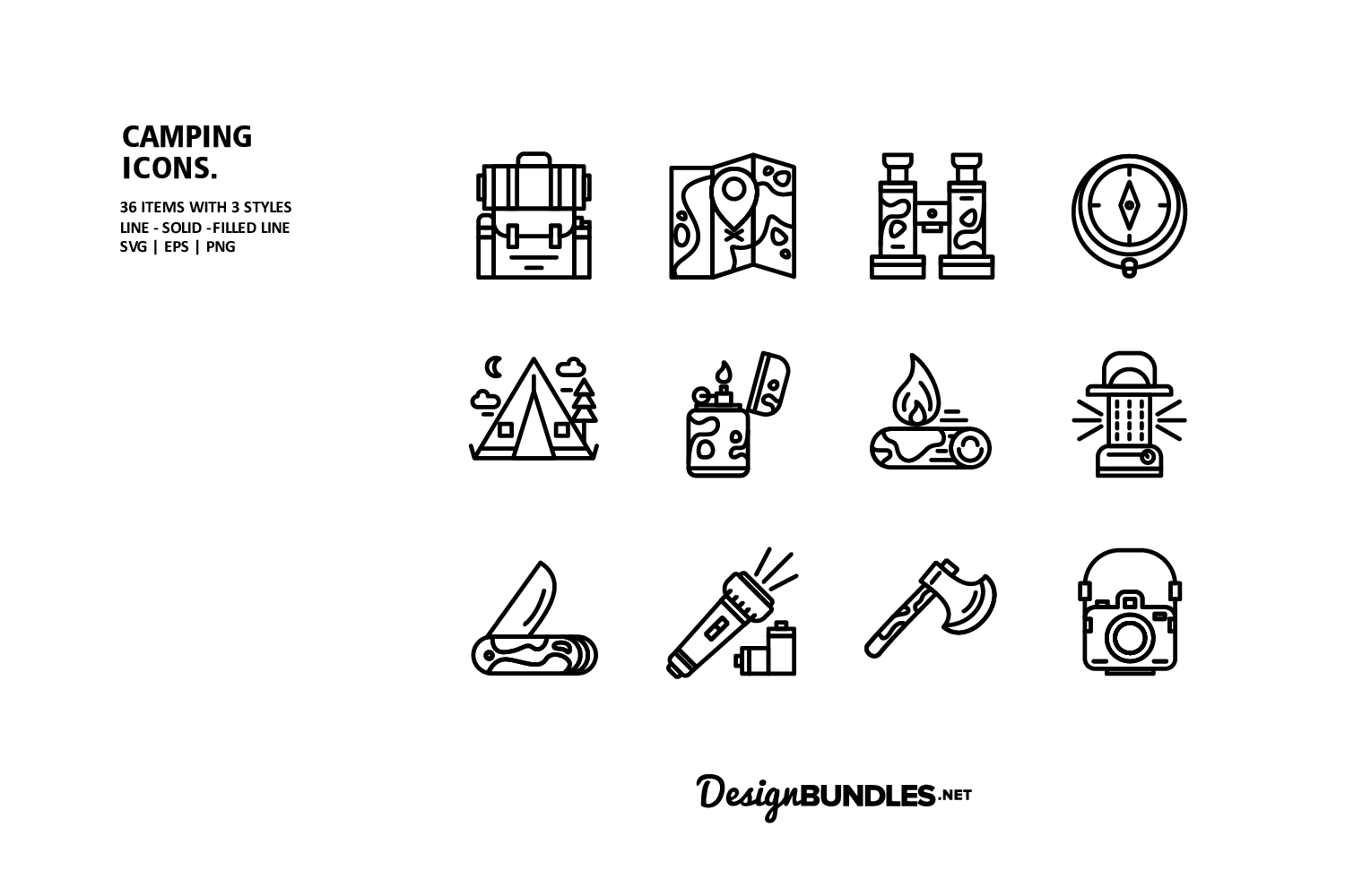 Camping Icons example image 3