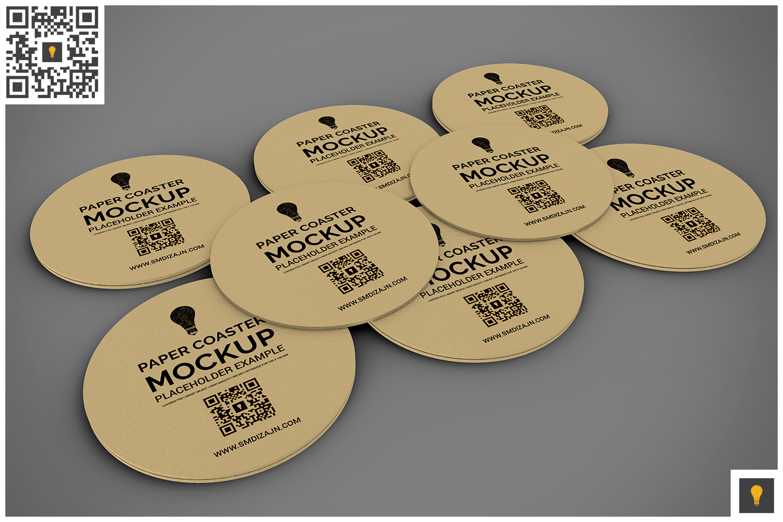 Paper Coaster Mockup example image 2