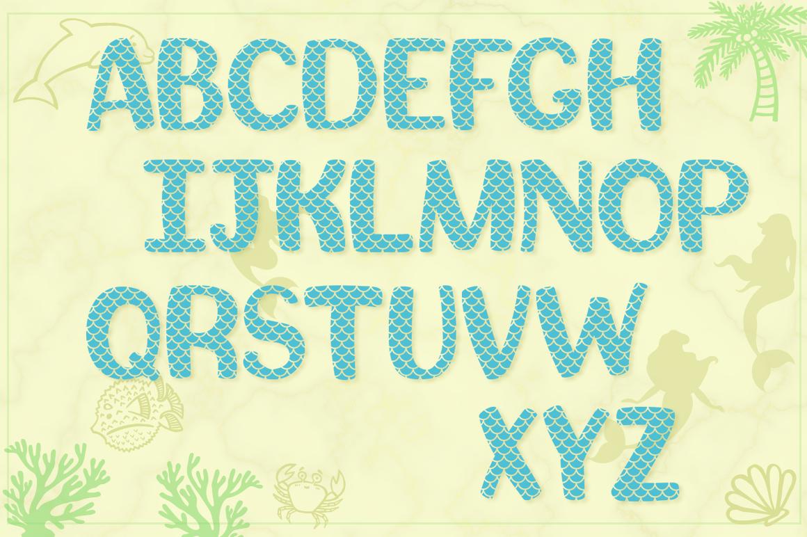 Mermaid Story & Mermaid Scales Font Duo with Bonus Extras example image 3