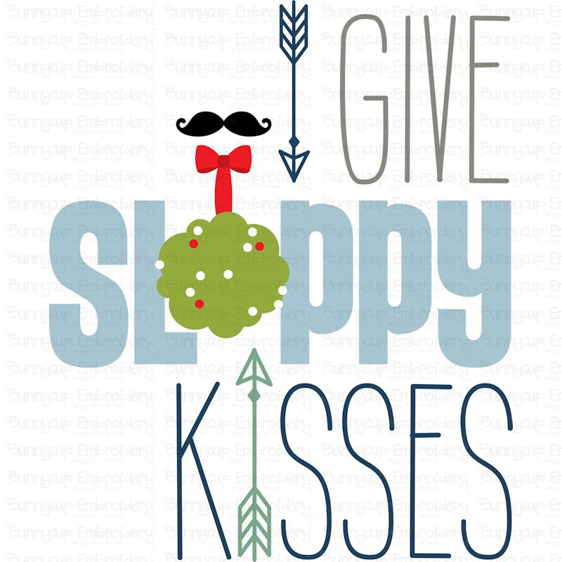 I Give Sloppy Kisses - SVG, Clipart, Printable example image 2